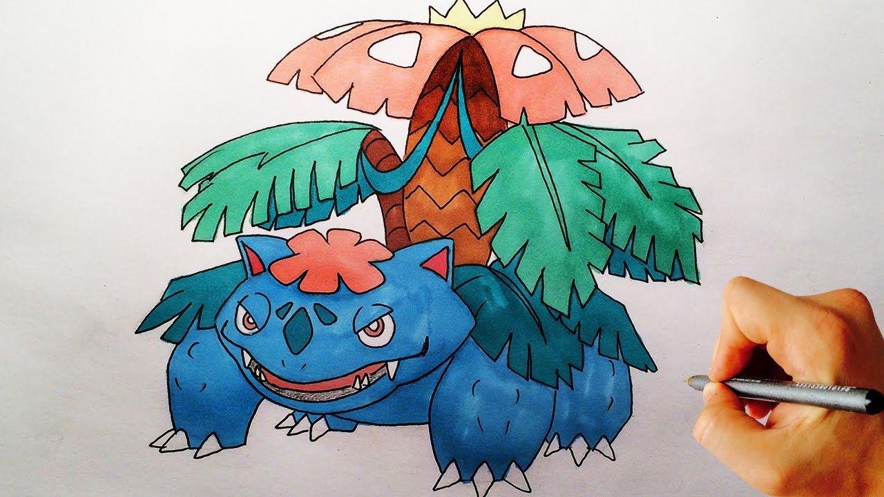 How To Draw Mega Venosaur From Pokemon X Y Drawing Lesson Drawing Lessons Pokemon Drawing Tutorials For Kids
