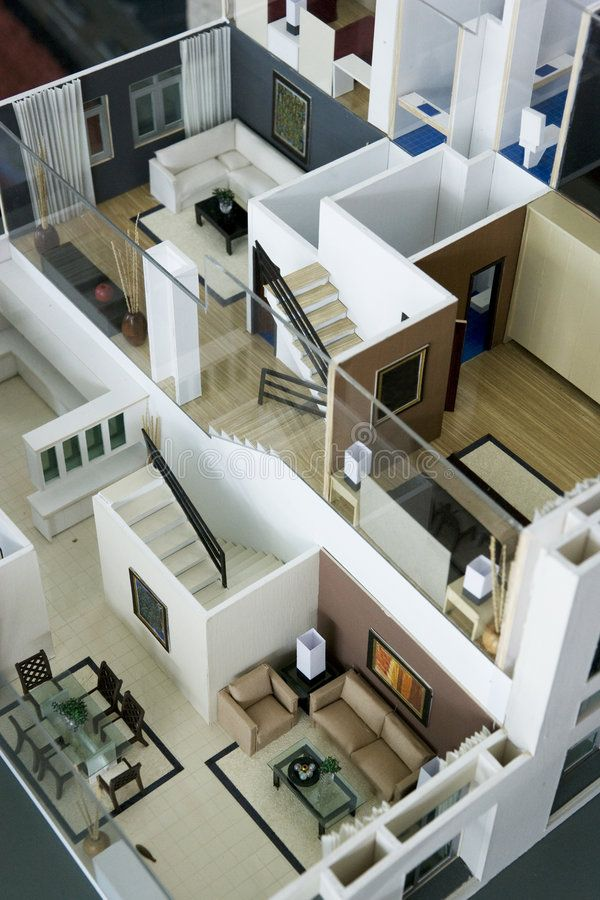 Model House Interior Image Of An Architect S Model House Interior Aff Interior Im Architecture Model House Architecture Model Making Architecture House House design model making