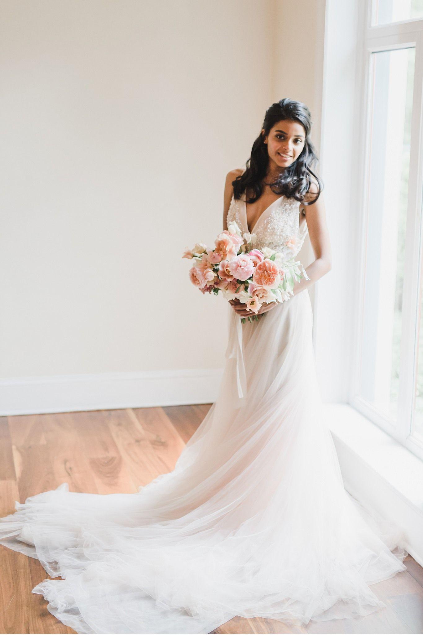 Blush Florals At Styled Wedding At Pomme Philadelphia Pa Fairy Tale Wedding Dress Bling Wedding Dress Wedding Dress Long Sleeve [ 2048 x 1365 Pixel ]