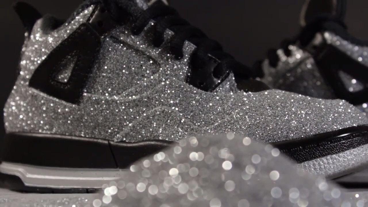 Custom Jordan 4 Glitter Jordan 4