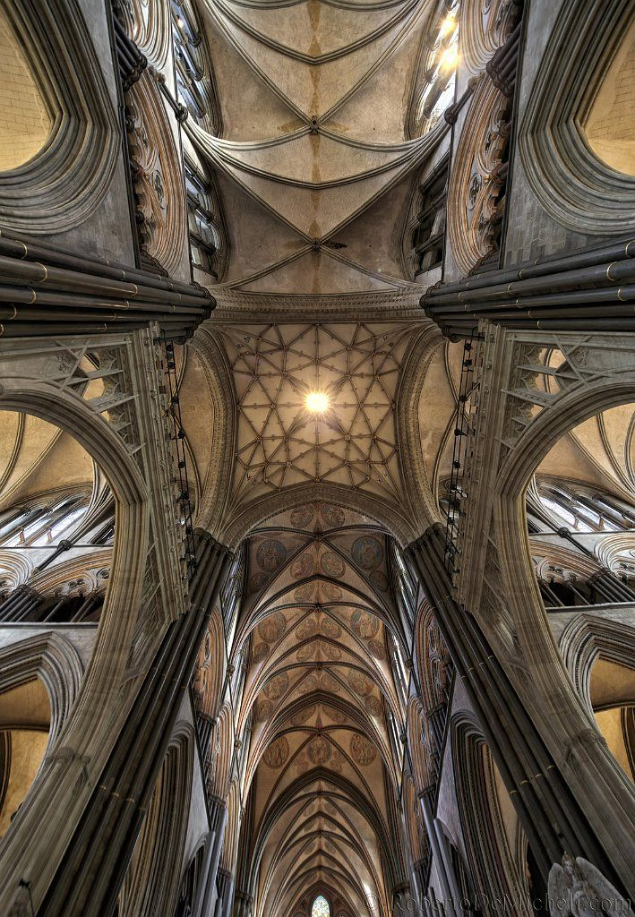 Rib Vault Ceiling Cathedral Church Of The Blessed Virgin Mary Salisbury