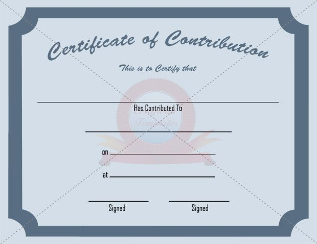 1000 images about CONTRIBUTION CERTIFICATE TEMPLATES – Donation Certificate Template