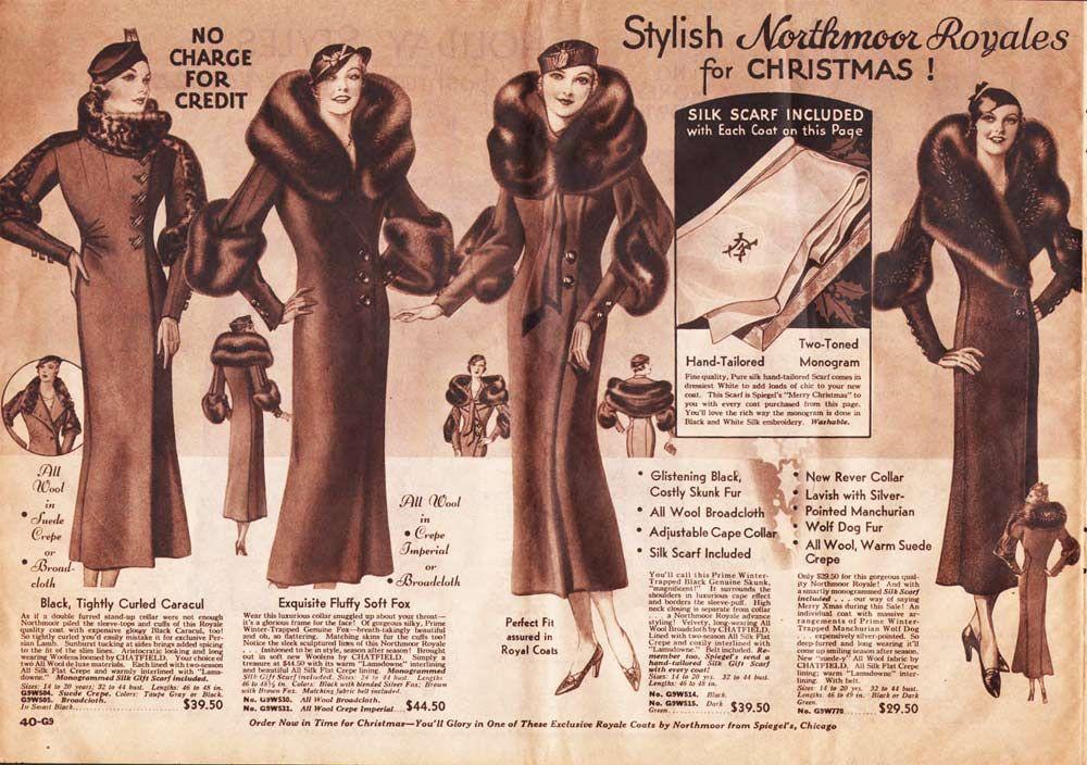 1930s Fashion For Women & Girls