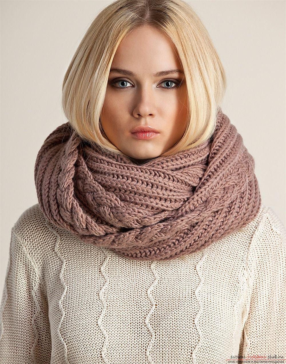 снуд спицами четыре схемы с описанием для вязания снуды шарфы