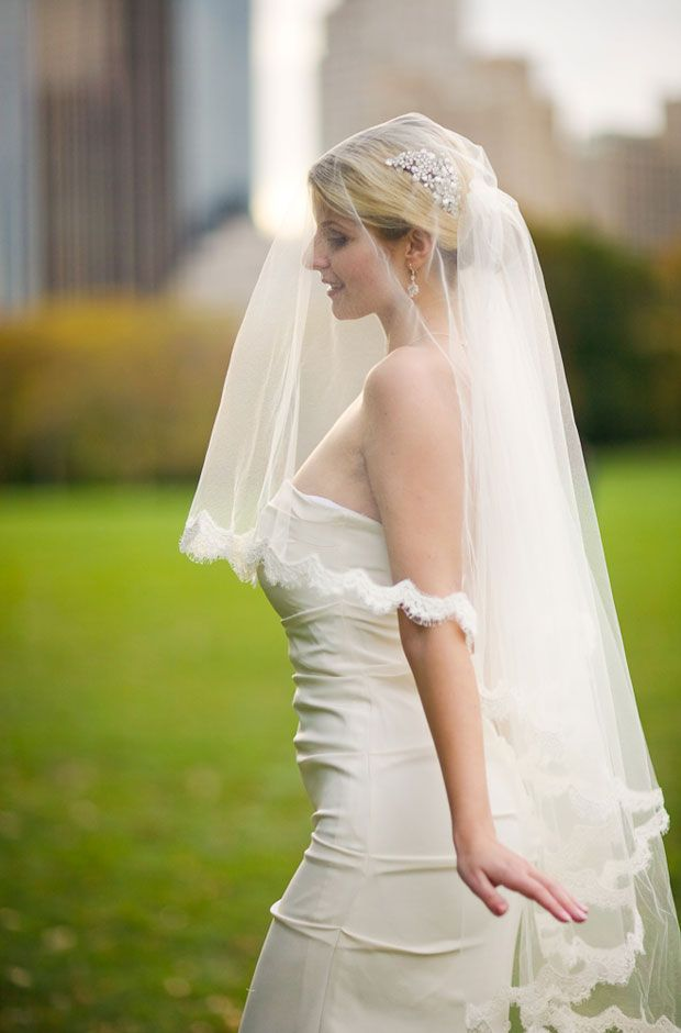 Mantilla Blusher Veil To Be Used After Ceremony And Pictures Drop Bridal