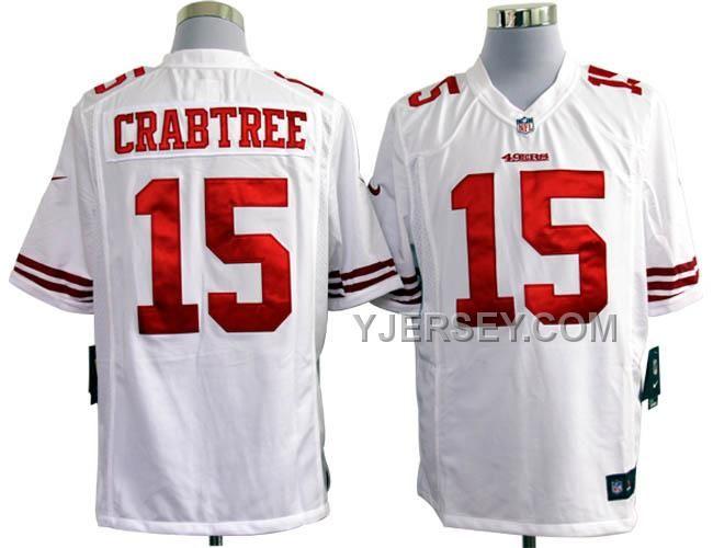 http://www.yjersey.com/nike-49ers-15-crabtree-white-game-jerseys-online.html NIKE 49ERS 15 CRABTREE WHITE GAME JERSEYS ONLINE Only $36.00 , Free Shipping!