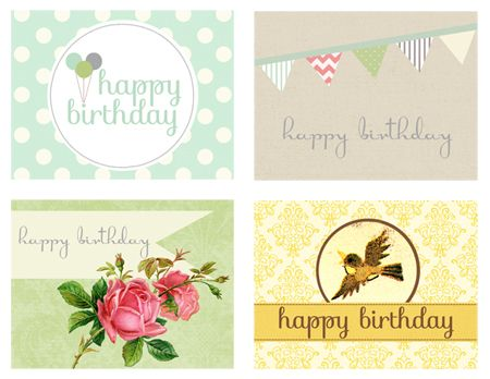 2012 Birthday Card Print Out-2 ideje ) Pinterest Happy - happy birthday card templates free