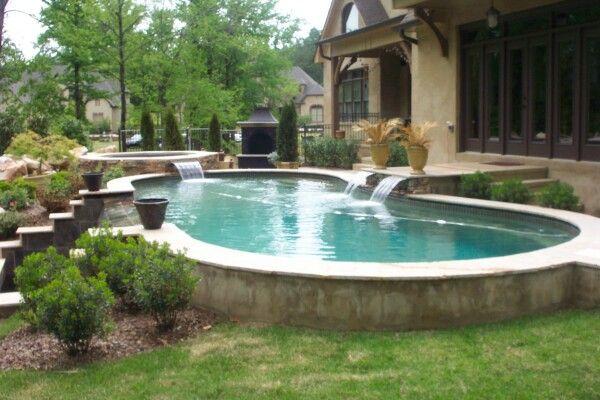 Raised Pool Fiberglass Pools Building A Pool Pool