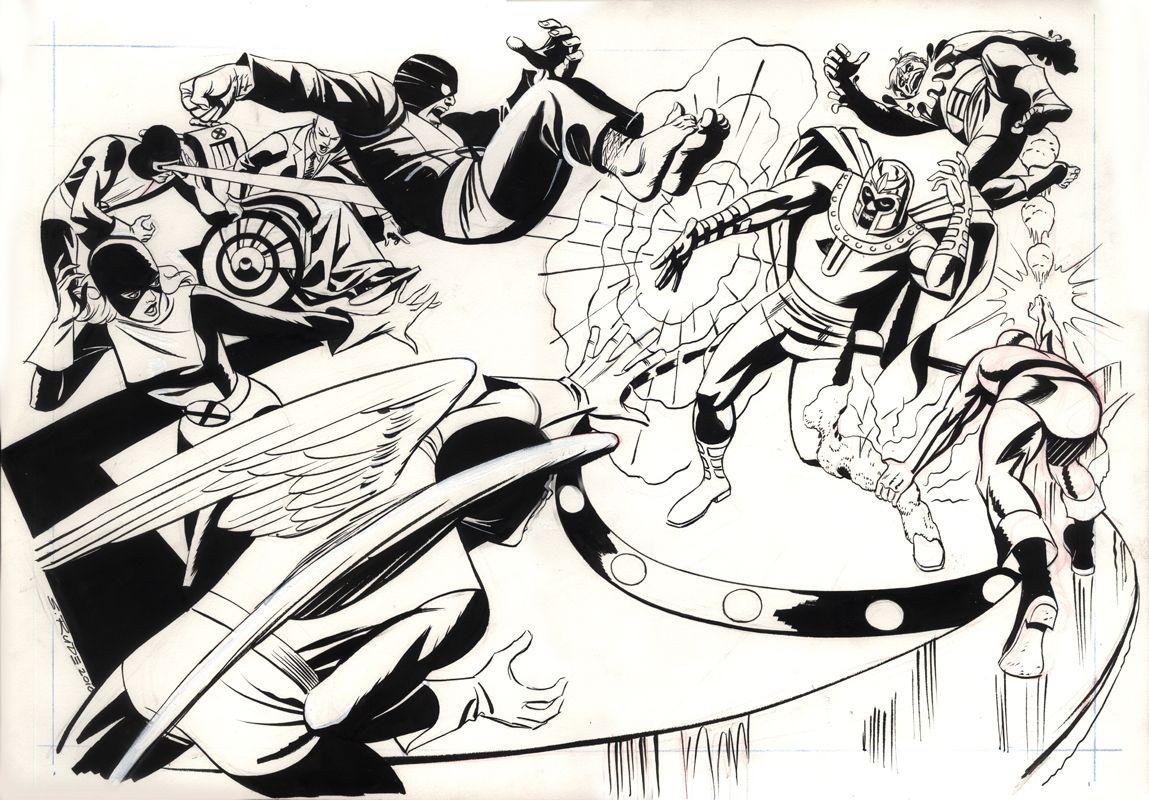 X Men Vs Magneto And The Toad Comic Art Comic Art Man Vs X Men