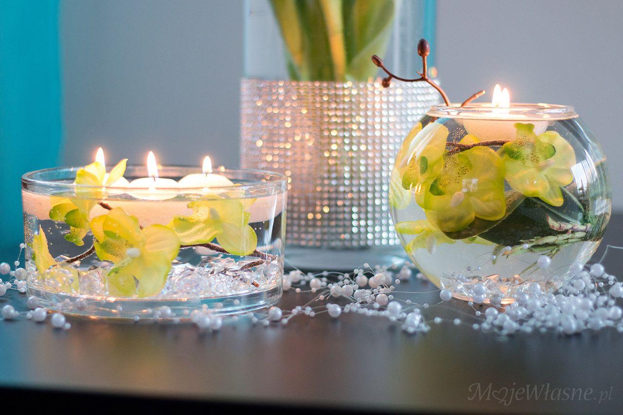 Kwiaty Zatopione W Wodzie Table Decorations Home Decor Decor