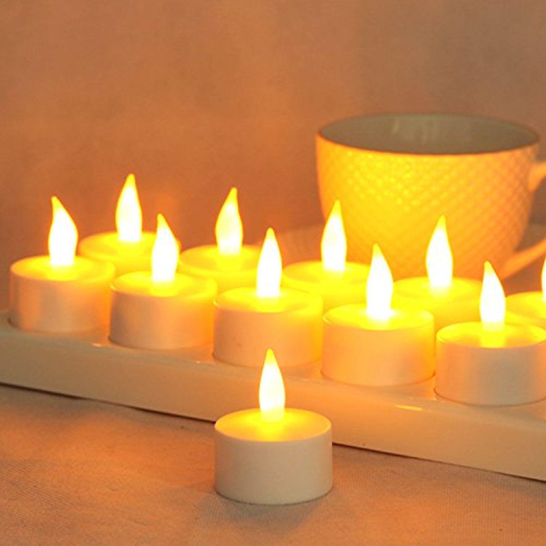 Flameless tea light candles leehur led pillar candles lamps votive