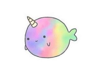 Cute Rainbow Unicorn, Cloud, Kawaii, Manga, Anime T-shirt with ...