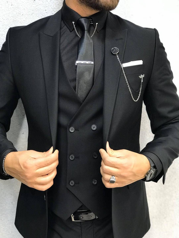 Havana Slim Fit Black Suit Hollo Men Black Suit Men Dress Suits For Men Designer Suits For Men [ 1440 x 1080 Pixel ]