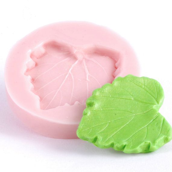 resin wax Chocolate and more sweets Fancy Leaves Flexible silicone mold- fondant clay