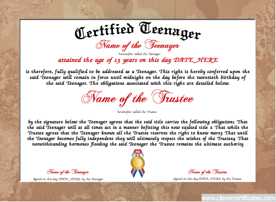 Teenager certificate designer free certificate templates you create amazing certificates with a certificate template from our free certificate templates choose a certificate design and print your certificates with yadclub Gallery