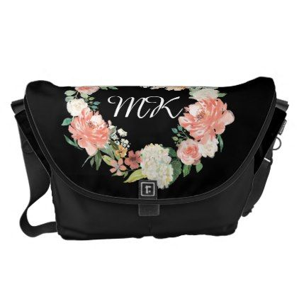 Floral and black personalized baby bag monogram gifts unique floral and black personalized baby bag monogram gifts unique custom diy personalize negle Image collections
