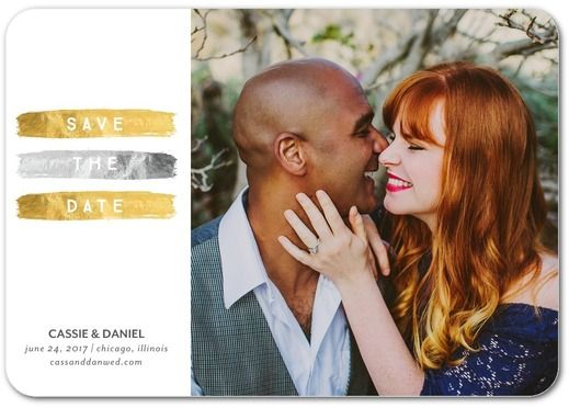Glowing Moment - Signature White Photo Save the Date Cards - Magnolia Press - Marigold - Neutral : Front
