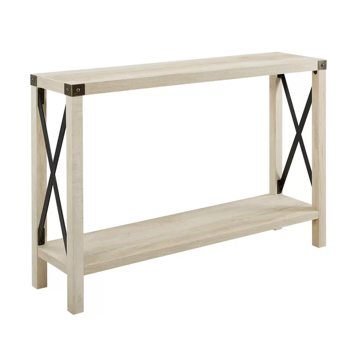 Arsenault Urban 46 Console Table Oak Console Table Rustic Console Tables Farmhouse Entryway Table