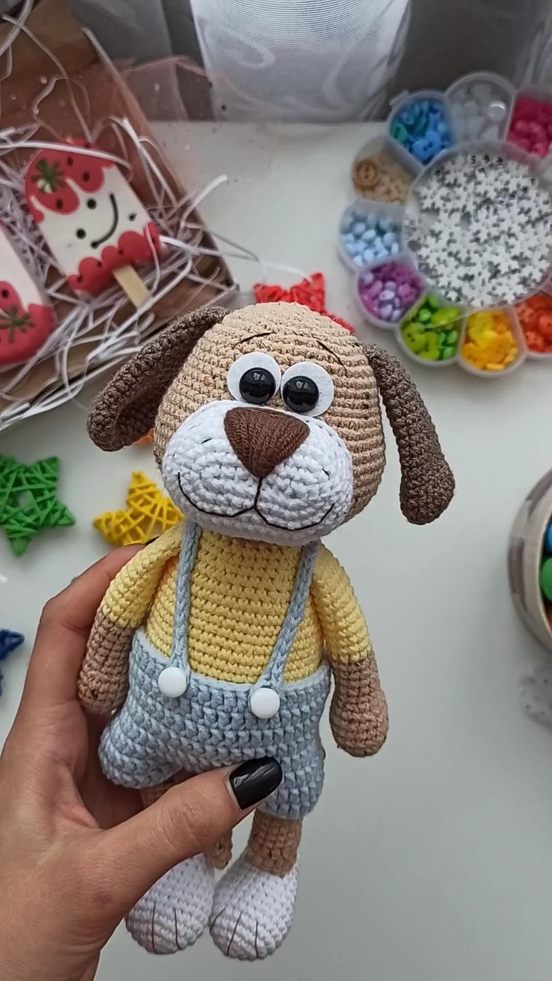 Puppy CROCHET PATTERN, Dog Amigurumi
