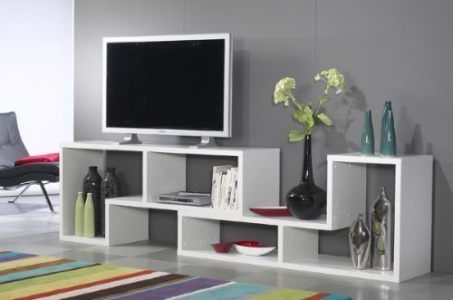 mueble modular biblioteca tv lcd plasma sonido home theater  ideas