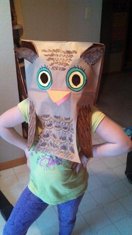 so easy and fun owl paper bag mask kids stuff pinterest