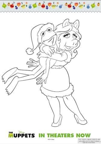 miss piggy coloring page