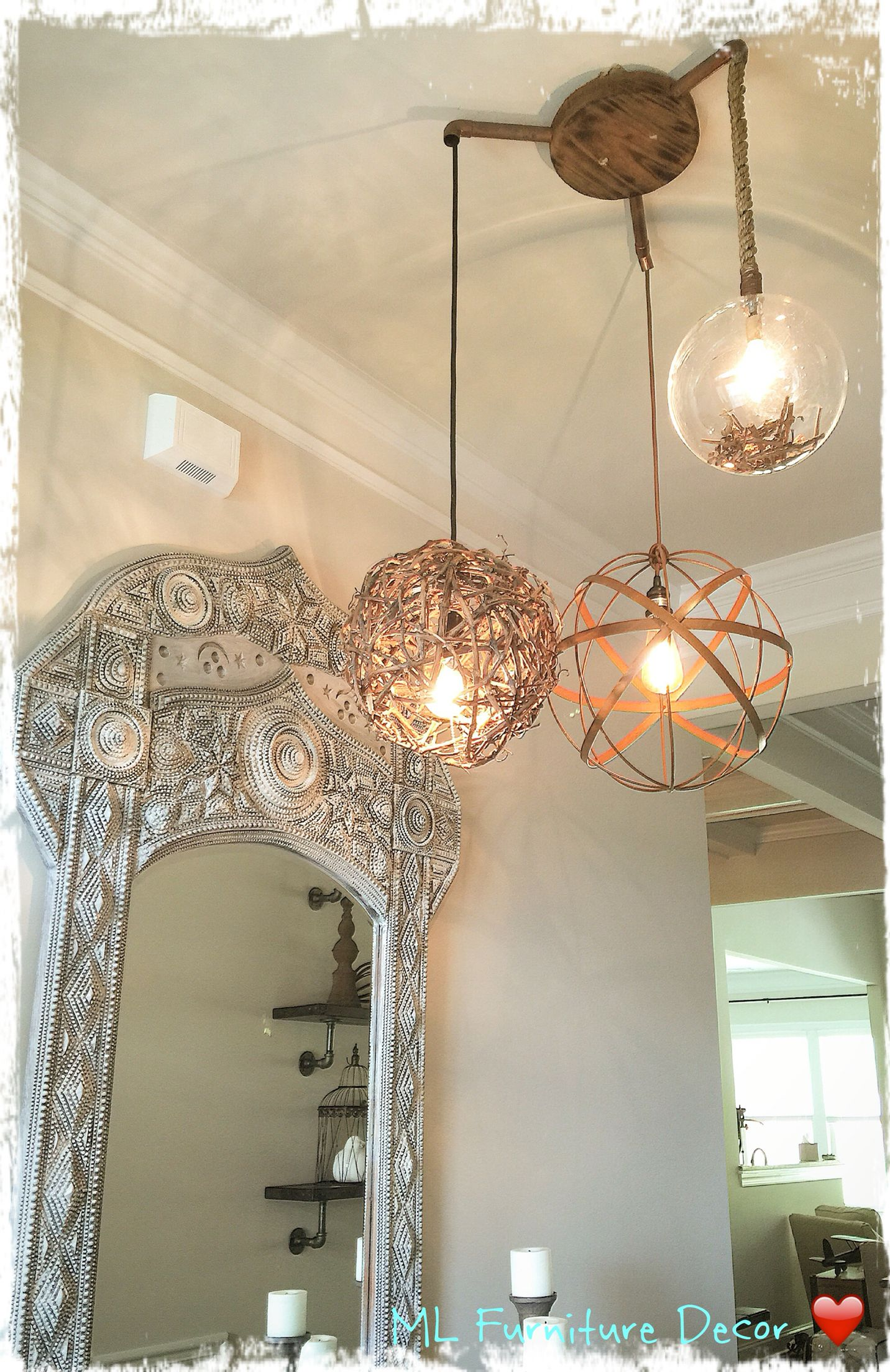 Entry way and Light fixture by ML Furniture Decor