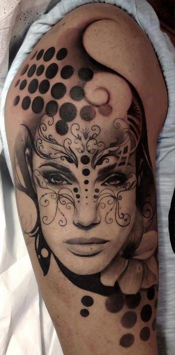 Tattoo Tatouage Tatoeur Visage Femme Body Art Tattoos