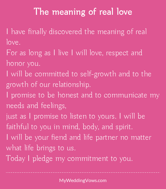 The Meaning Of Real Love
