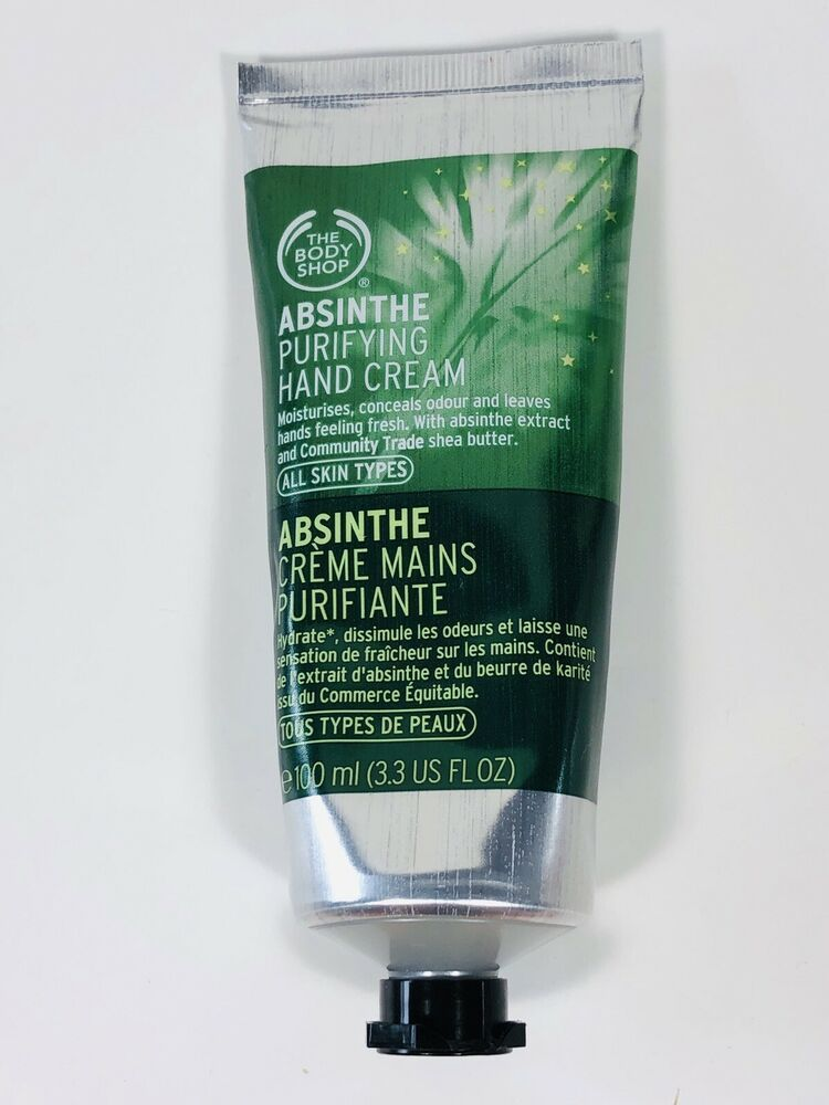 The Body Shop Absinthe Purifying Hand Cream 3 3oz 100ml New Made