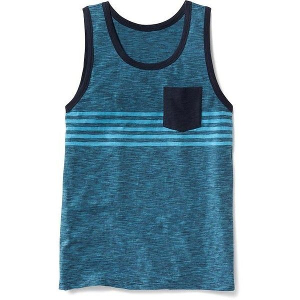 c83bd8c35e994 Old Navy Slub Knit Pocket Tank For Men ( 10) ❤ liked on Polyvore featuring  men s fashion