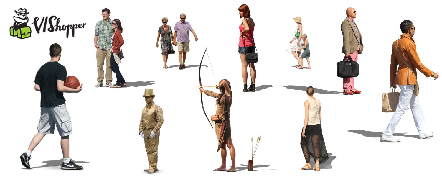 VIShopper Give 10 Free High Res Cutout People 3D Architectural