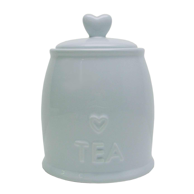 Country Heart Duck-Egg Tea Storage Jar | Tea storage, Storage jars ...