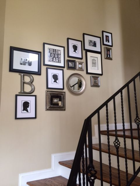 Genial My Gallery Wall Going Up The Stairs, I Used The Staircase And Sort Of Stair