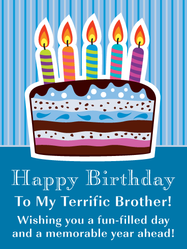 Colorful Celebration Cake Happy Birthday Card For Brother Birthday Greeting Cards By Davia Birthday Cards For Brother Happy Birthday Cards Birthday Greeting Cards