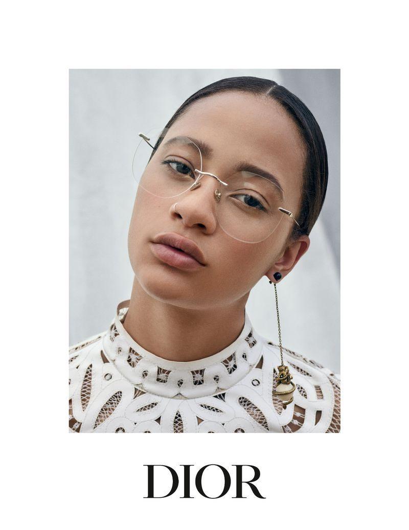 baedaaa0eef1 Selena Forrest Fronts Dior Eyewear Cruise 2019 Ads