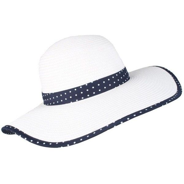 9d996263e1522 Dents Wide brim paperstraw hat with split brim (£38) ❤ liked on Polyvore  featuring accessories