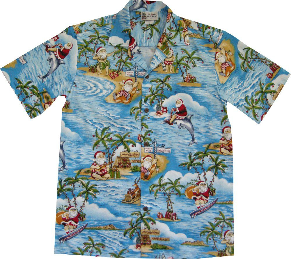 87299749b418 Surfing · Santa . Christmas Hawaiian Shirts