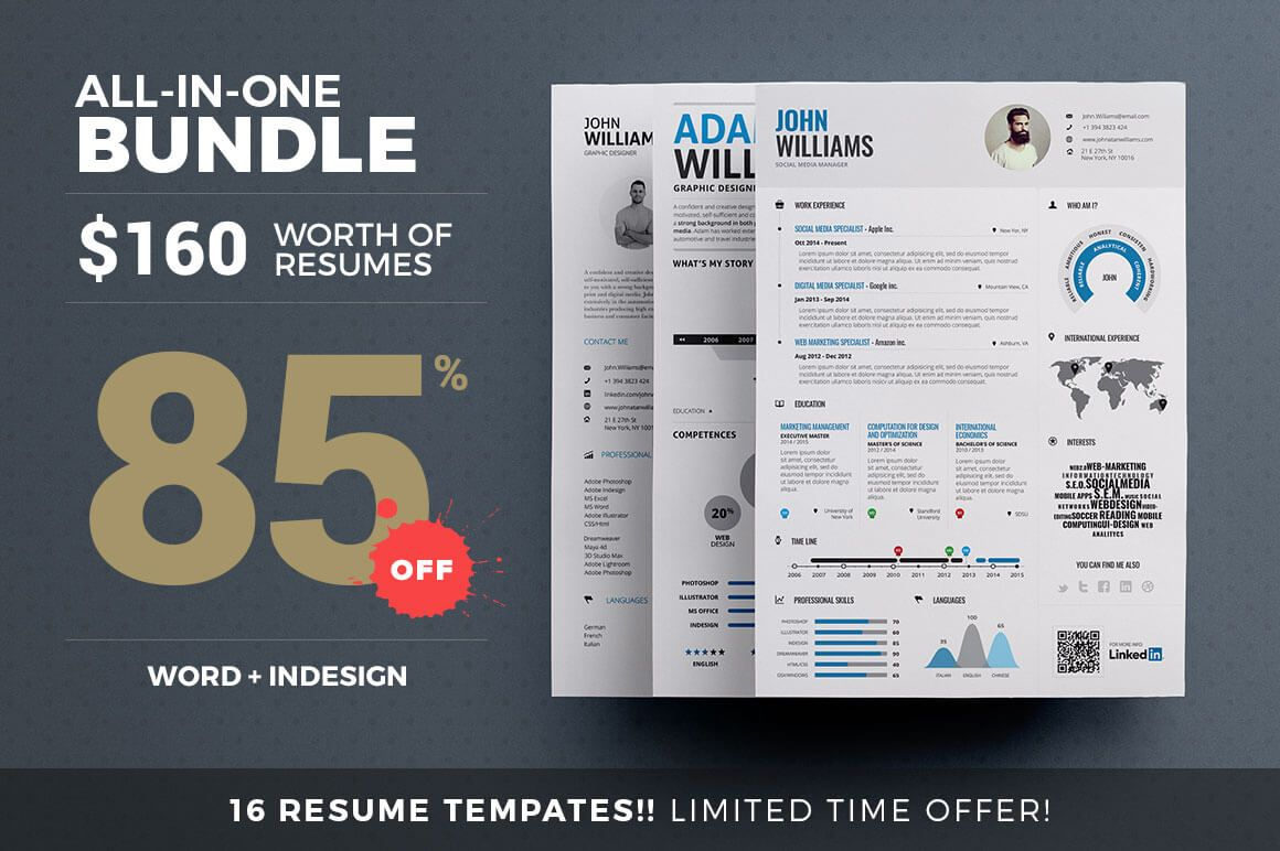 16 Print-Ready Creative Resume Templates from TheResumeCreator ...