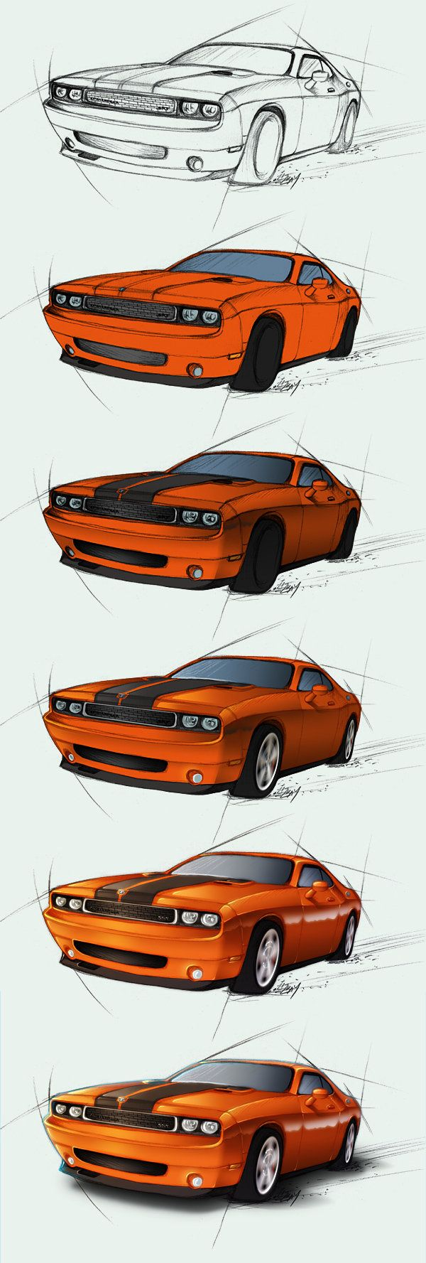 Dodge Challenger SRT - steps by Lizkay on DeviantArt