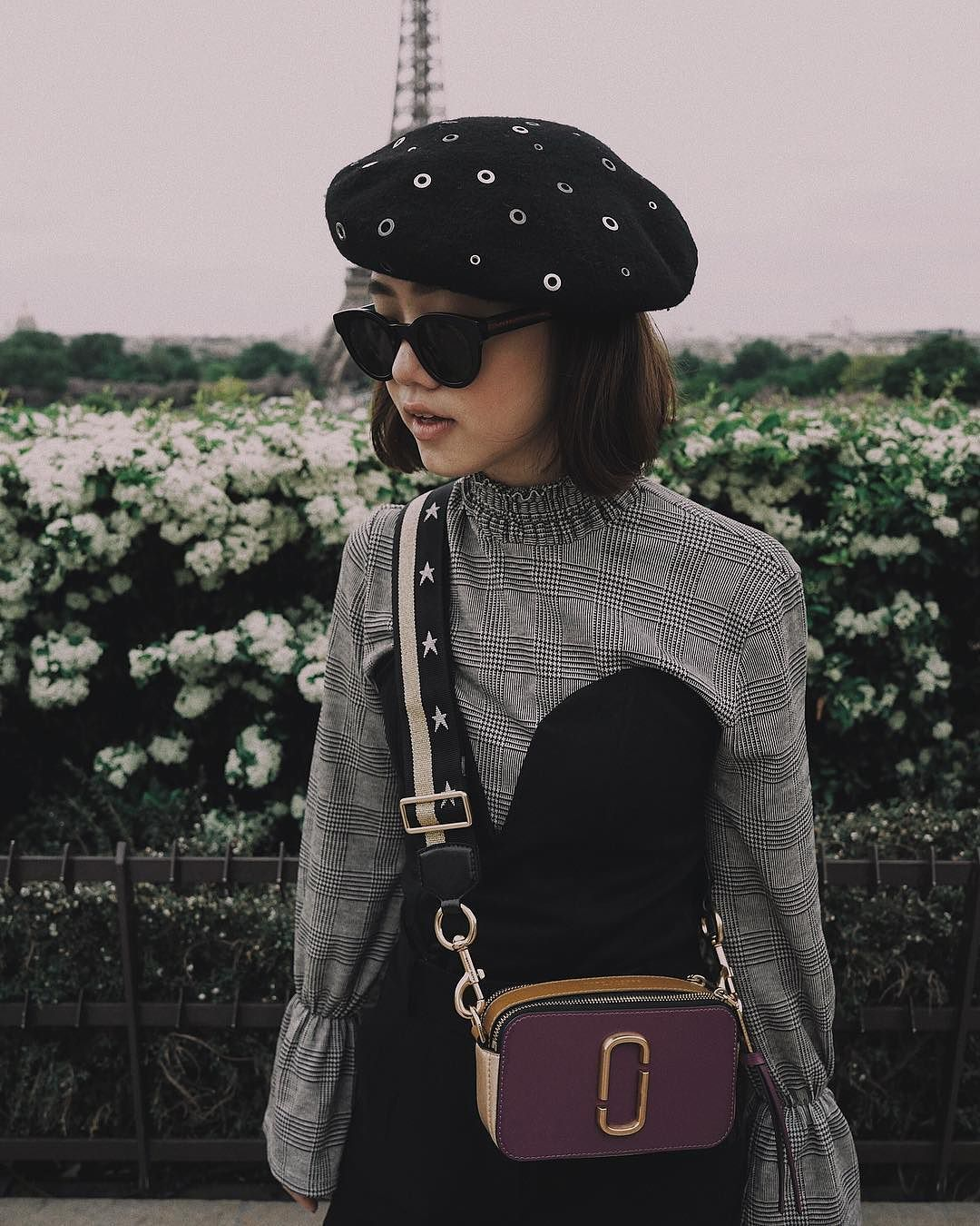 dbeb05ae697b Eli Elvina wearing our Marc Jacobs Snapshot Bag