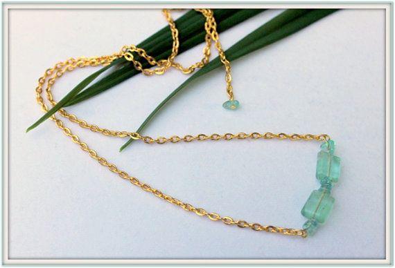 Nautical Jewelry Semi Precious Aqua Tourmaline by SUSANsBAUBLES, $30.00