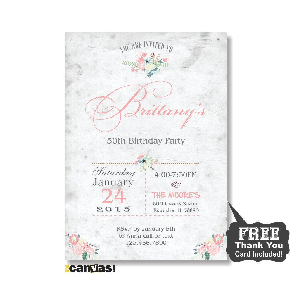 Adult Birthday Invites, Rustic Surprise Birthday Party Invitations ...