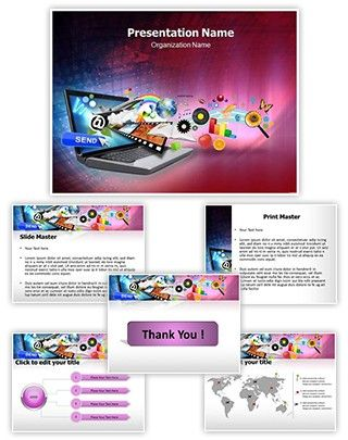 Laptop Powerpoint Template Is One Of The Best Powerpoint Templates