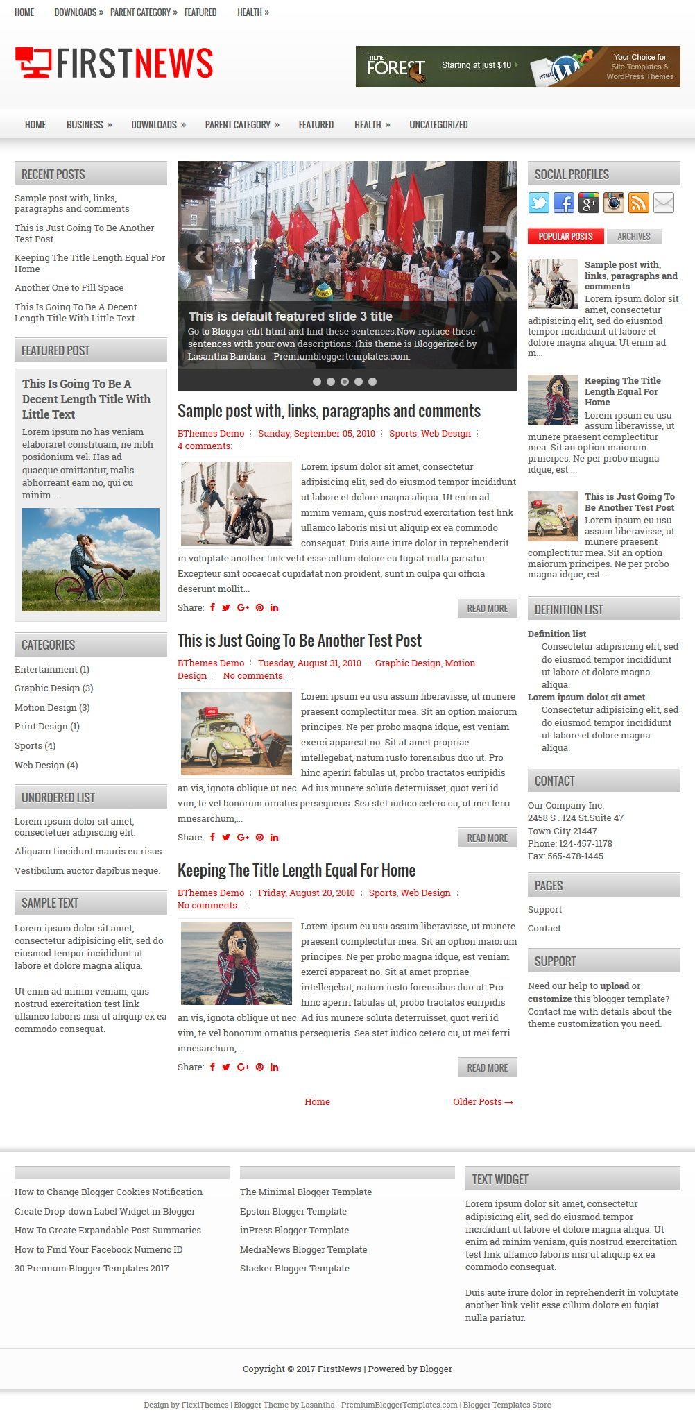 Firstnews Blogger Template Travel And Photography Pinterest