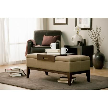 Can Be Used As Ottoman Seating Or Coffee Table Inside There Is Storage