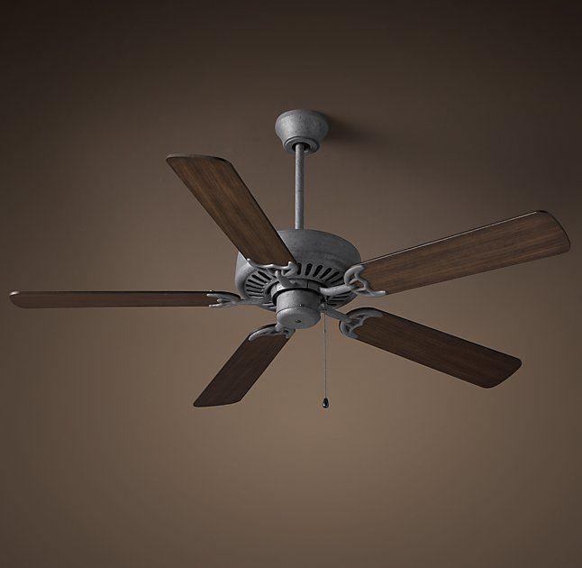 Bistro Ceiling Fan Galvanized Steel Ceiling Fan Galvanized