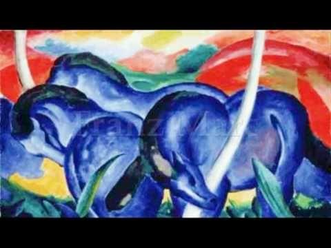 STAATLICHE KUNSTHALLE KARLSRUHE Hörbilder: August Macke, Leute am blauen See, 1913 Große, gleichwertige Farbfelder, die die Tiefenräumlichkeit zurücknehmen, ...