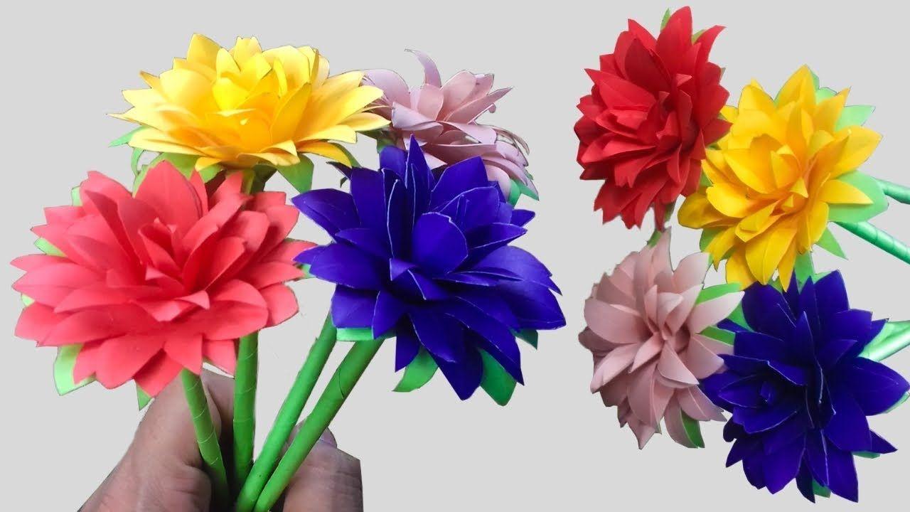 Diy Easy Beautiful Paper Flowers Simple Paper Flowers Craft Diy