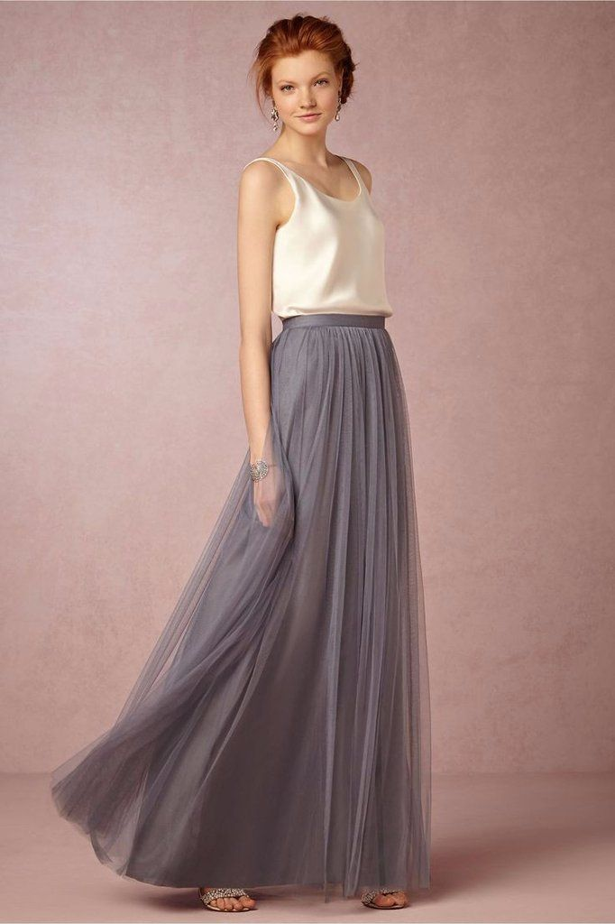 87d542c9c1 Floor Length Tulle Skirt Separate with Satin Waist in 2019 | Wedding ...